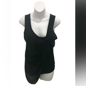 Deletta Anthropologie Black Sleeveless Blouse